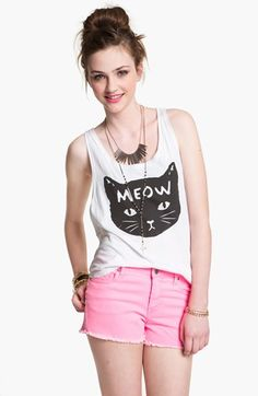 Ten Sixty Sherman 'Meow Kitty' Tank (Juniors) | Nordstrom... This might be necessary for the Taylor concert...