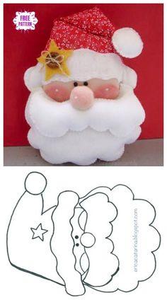 Diy christmas crafts 802907439795274034 - Christmas Craft: DIY Felt Santa Clause Ornament Free Sew Patterns & Tutorials Source by Felt Christmas Decorations, Felt Christmas Ornaments, Diy Christmas Ornaments, Xmas Crafts, Diy Crafts, Christmas Christmas, Santa Crafts, Santa Ornaments, Summer Crafts