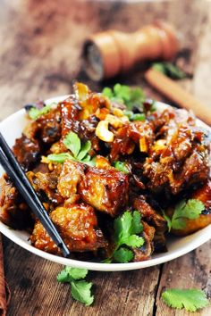 Sweet and sour ribs - Recipe in English. Rib Recipes, Slow Cooker Recipes, Asian Recipes, Cooking Recipes, Healthy Recipes, Chinese Recipes, Sweet And Sour Ribs Recipe, English Food, Dining