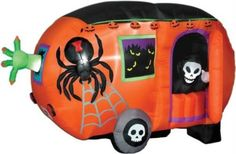 Animated Airblown Halloween Camper black Medium #Gemmy