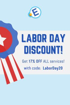 Wishing you a very happy #LaborDay! Are you ready for a #super #generous #surprise? Only till #September 11, use code LaborDay20 and get 17% OFF all #services! #studentslife #essays #academic #homework #work #sale #discount #labor