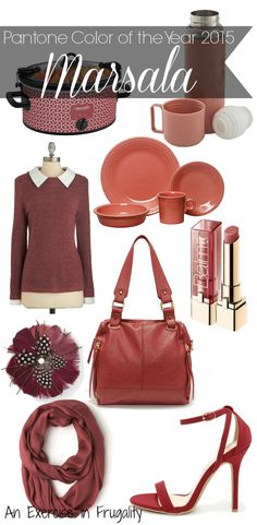 Pantone's Color of the Year 2015: Marsala. Love this mauve/berry color. Perfect for fall.- An Exercise In Frugality