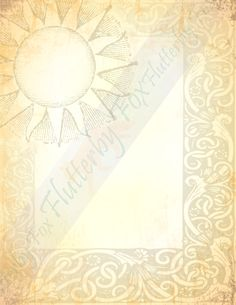 Sun Paper, Gold Paper, Golden Sun, Paper Book, Writing Paper, Book Of Shadows, Your Image, Stationery, Printables