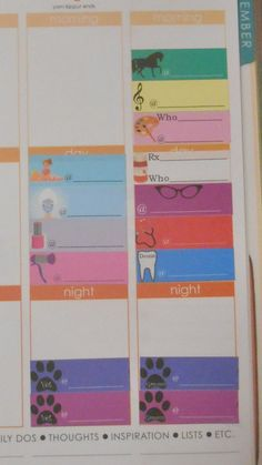 Set of 50 repositionable appointment reminder stickers. Fits perfectly in the Erin Condren Life Planner weekly boxes.