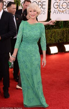 Golden Globes | Helen Mirren caused red carpet envy with her gorgeous green Jenny Packham gown