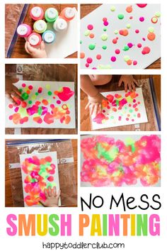 No mess smush painting for toddlers happy toddler club easy toddler art project idea! whether your toddler is 12 months 18 months or 2 years old this art project makes the perfect indoor activity it s Art Activities For Toddlers, Infant Activities, Indoor Toddler Activities, 2 Year Old Activities, Art For Toddlers, Learning For Toddlers, Infant Games, Teaching Toddlers Colors, Early Learning