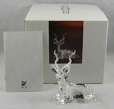 "Swarovski Crystal 1994 Annual SCS Figurine ""KUDU"" New In Original Box With COA - $78"