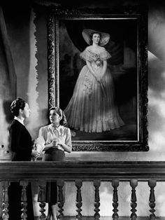 Rebecca Year 1940 Director Alfred Hitchcock Joan Fontaine Judith Anderson Based upon Daphné Du Maurier s book - Stock Image Alfred Hitchcock, Hitchcock Film, Anthony Hopkins, French Movies, Old Movies, Rebecca Daphne Du Maurier, Dramas, Best Classic Movies, Twilight
