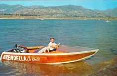 BRENDELLA Ski Boats. An early SK style with a v-8 through a v-drive.