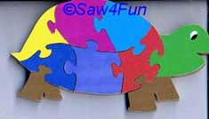 Turtle #42 Puzzle Scroll Saw Pattern