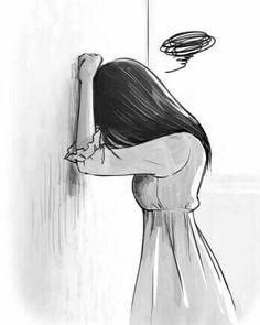 New Drawing Sad Sketches Cartoon Ideas Sad Girl Art, Sad Girl Drawing, Sad Anime Girl, Sad Art, Anime Art Girl, Anime Girls, Sad Sketches, Sad Drawings, Girl Drawing Sketches
