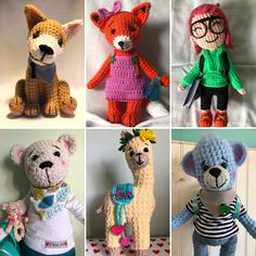 Crochet Animals, Crochet Toys, Snoopy, Teddy Bear, Dolls, Trending Outfits, Unique Jewelry, Handmade Gifts, Inspiration