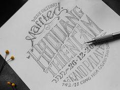 Invitation Typography by Bratus ™