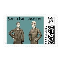 Vintage Gay Save the Date Postage