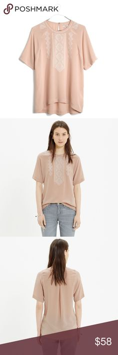 🆕 Listing! MADEWELL silk fortune embroidered top PRODUCT DETAILS Based on a vintage piece, this silk top is intricately embroidered for a unique and royal  feel. Perfect condition. True to size. Silk. Dry clean. Import. Sold out online. Madewell Tops Blouses