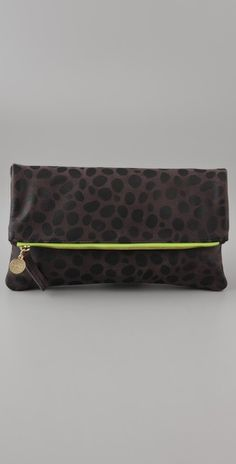 Gorgeous >> clare vivier fold over clutch