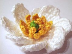 Mountain Avens Flower Crochet Pattern by Camelia Shanahan Free