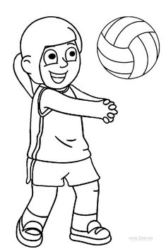 Printable Volleyball Coloring Pages For Kids