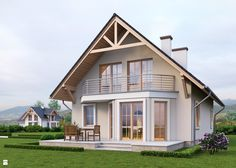 home extensions Projekt domu Home Building Design, My Home Design, Building A House, House Design, A Frame House Plans, Small House Plans, Model House Plan, Dream House Exterior, House Extensions