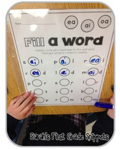 Sarah's First Grade Snippets: Vowel Teams RTI and a New Blog Design