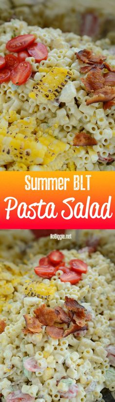 Summer BLT pasta sal