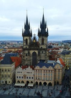 The church of Our Lady before Týn, Old Town of Prague, Czechia Church Of Our Lady, Sacred Architecture, Pilgrimage, Prague, Old Town, Cathedral, City, Building, Places