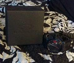 Men's Oakley Gearbox black stainless steel stealth watch