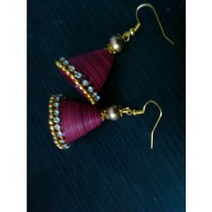 Quilled Maroon jhumkas
