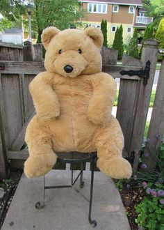 "29"" Giant 24K Special Effects Mighty Stars Polar Puff Teddy Bear Nelson Plush #24K"
