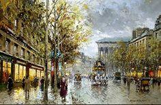 Antoine Blanchard - Boulevard de la Madeleine
