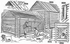 Build an American log cabin - http://www.wilderness-survival.net/shelters-shacks-shanties/american-log-cabin/