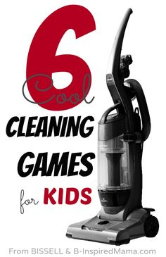 Make housecleaning a little easier and make cleaning fun for kids with these 6 cleaning games - Sponsored by BISSELL #CleanView Vacuum at B-Inspired Mama.