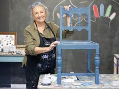 How to create a two colour distress using Chalk Paint