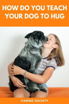 """You have several ways to teach your dog to hug you. If your pooch loves to wrap his paws around you, you can reinforce this behavior when it's happening with praise and/or treats. You can also use a command a word like """"Hug,"""" followed by food or toy rewards. This second method works best for calm dogs not prone to excessive jumping. Dog Commands Training, Hug You, Depressed, Behavior, Your Dog, Wrapping, Arms, Sad, Treats"""