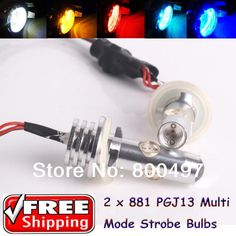 18.79$ (More info here: http://www.daitingtoday.com/2-x-881-h27w-2-pgj13-led-strobe-lights-of-three-modes-with-steady-light-6w-fog-lights-for-volkswagen-polo-skoda-golf-lada-kia ) 2 x  881 H27W/2 PGJ13 Led Strobe Lights of Three Modes With Steady Light 6W Fog Lights For Volkswagen Polo Skoda Golf lada Kia for just 18.79$