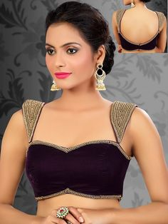 Net sarees are truly elegant. But have you wondered what blouse you will match your saree? Well, Here are some of the best net saree blouse neck designs that makes a wonderful look to enhance your style & Accenture your beauty. Saree Jacket Designs, Sari Blouse Designs, Designer Blouse Patterns, Fancy Blouse Designs, Design Patterns, Blouse Back Neck Designs, Saris, Readymade Blouses Online, Sari Bluse