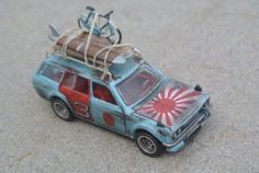 CUSTOM-MADE-Hot-Wheels-Datsun-510-Bluebird-Wagon-Patina-My-Own-Japan-Historic