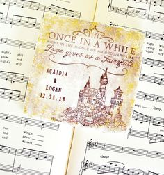 Fairy Tale Castle Coasters Personalized Wedding Gift Once in