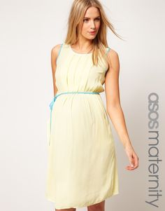 ASOS Maternity Exclusive Dress With Contrast Trim