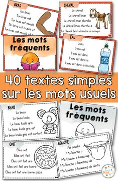 Lecture facile – Mots fréquents – French text on sight words - Pin Hairs Learning French For Kids, Spanish Language Learning, Teaching Spanish, Spanish Activities, Learning Italian, Math Activities, French Lessons, Spanish Lessons, Teaching French Immersion