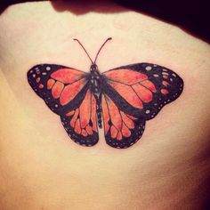 Butterfly tattoo on my ribs