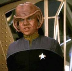 Nog is a Ferengi, the son of Rom and Prinadora, and the nephew of Quark. He was the first Ferengi to enter Starfleet, and served aboard Deep Space 9 and the USS Defiant during many of the most important battles of the Dominion War. Deep Space Nine Characters, Star Trek Characters, Star Trek Crew, Star Trek Tos, Star Terk, Star Trek Generations, Star Trek Reboot, Watch Star Trek, Deep Space 9