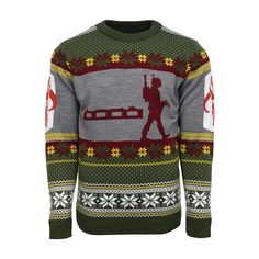 Official Star Wars Boba Fett Nordic Christmas Jumper / Ugly Sweater | Free UK Delivery | Yellow Bulldog