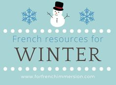 Check out these French winter resources for your French Immersion or Core French classroom: emergent reader, cut and paste activities, and more! French Teaching Resources, Teaching French, Teaching Ideas, French Classroom Decor, Free In French, Core French, French Immersion, French Teacher, Classroom Activities