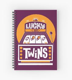 I am Lucky! I have Twins  by multiplesandmore. Twin books journal writing gifts