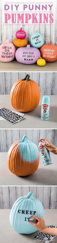 Give your pumpkins a spooky-cute update with a fun Halloween phrase!