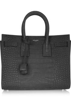 49881f74ea Saint Laurent stamped leather bag Black Leather Tote Bag