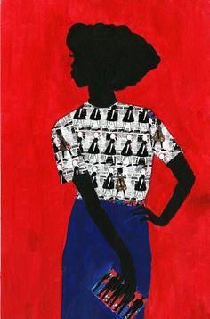 """We The People of the Diaspora-Black Culture Exploration"" Fashion Illustration Series by Jamilla Okubo"