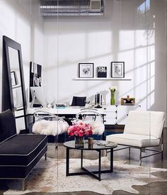 gray office ideas. Tour The Glam Offices Of Vita Fede, Designed By Aimee Song Gray Office Ideas