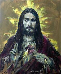 Cor Jesu Sacratissimum.2017 Oleo/Lienzo 60x40 cms. Jose Luis Castrillo